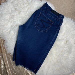 [Seven7] Destroyed Jean Legging Bermuda Shorts